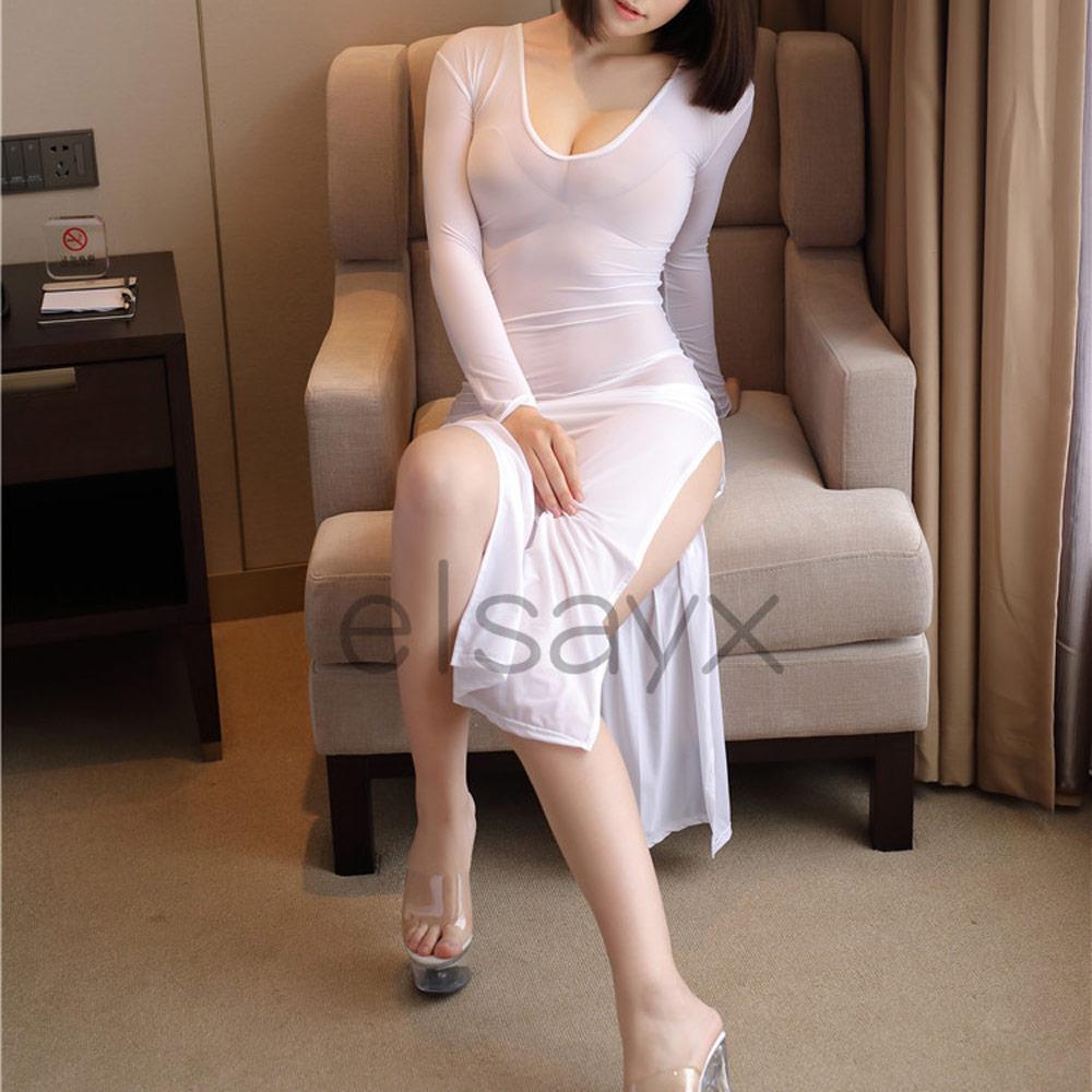 Women Long Skirt See Through Lingerie | eBay