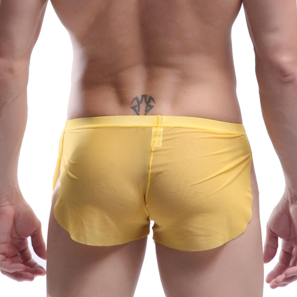 ElsaYX Men/'s Sheer Underwear Boxer Sides Open