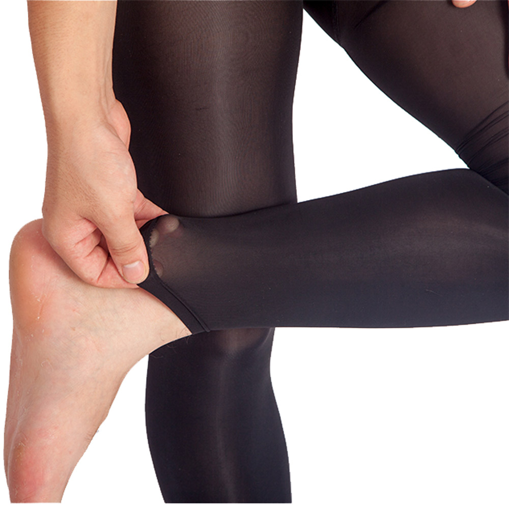 ElsaYX Men Footless Pantyhose Tights with Pouch