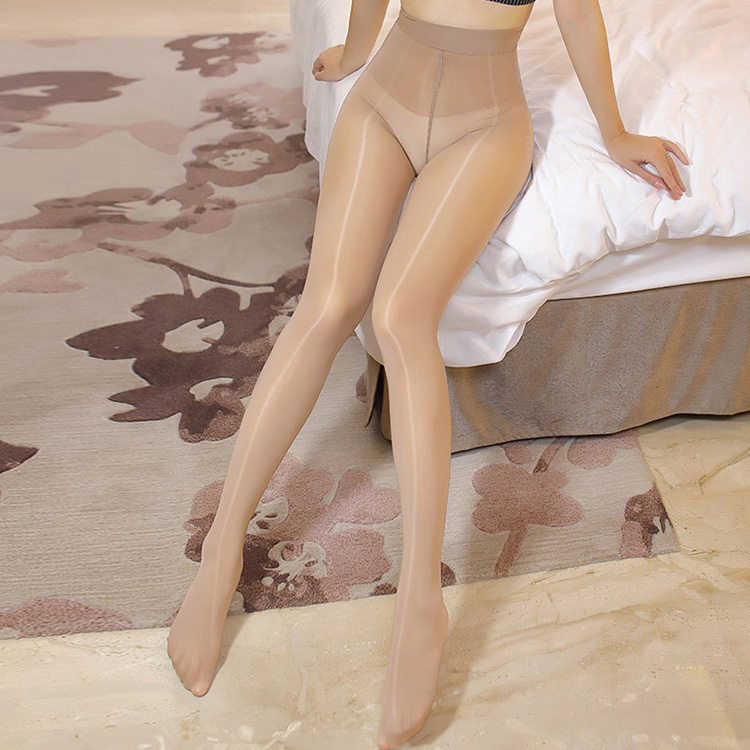 8D ElsaYX Women's Ultra Thin Sheer Wide-waistband Shiny Glossy Pantyhose Tights