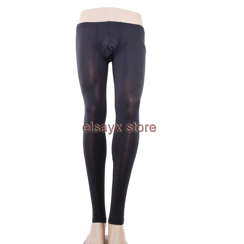 Mens Male Sheer See Through Underwear Long Pants ...