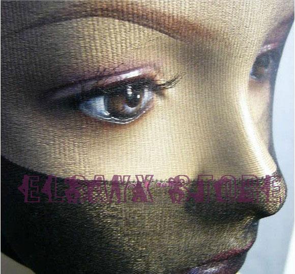 HOT Hommes Femmes Transparent Unisexe Masque collants transparents drôle Hoods Cover Nylon